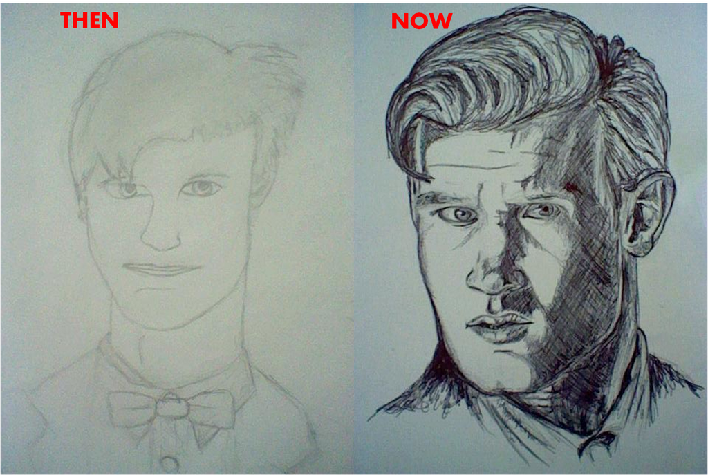 My Drawing Skills: Then and Now by DoctorArt1 on DeviantArt