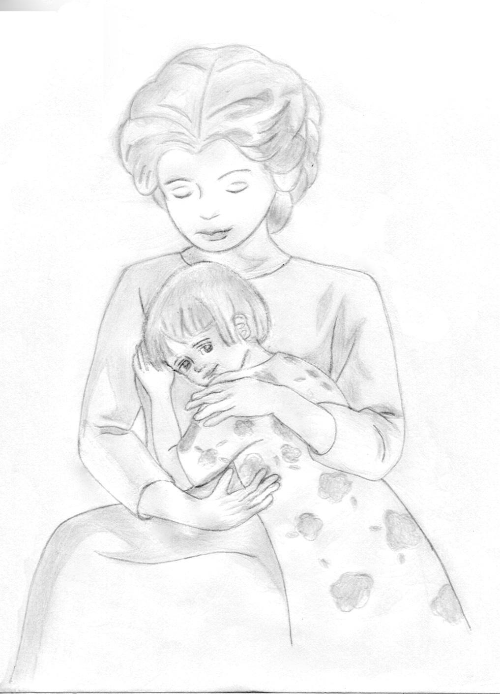 отражает рисунок на тему день матери карандашом просьба вернуть