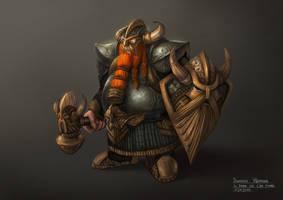 Dwarven Warrior by bramLeech