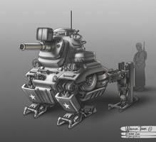 WW2 Walker Tank 01 by bramLeech