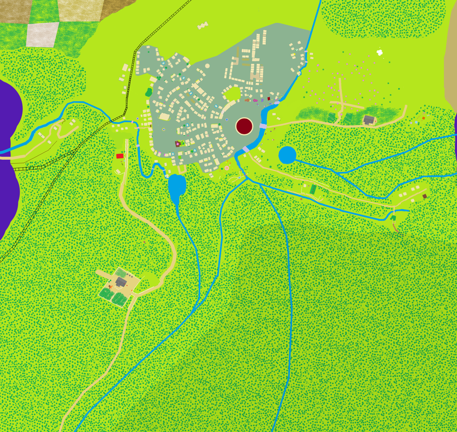Map of Ponyville - Plain - v3.2 by Aurek-Skyclimber