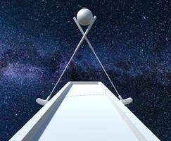 Minigolf in Space - Hole 9 - Dimensional Columns