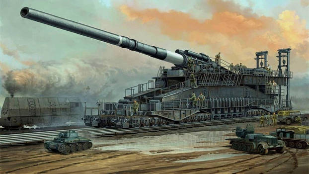 3rd Reich Arty German Railway Gun
