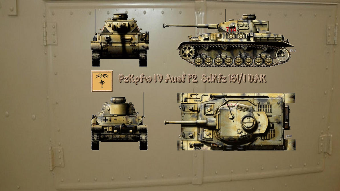 3RD REICH PZ4F2 Pzkpfw IV Ausf F2 OR SPECIAL 7 by PanzerBob