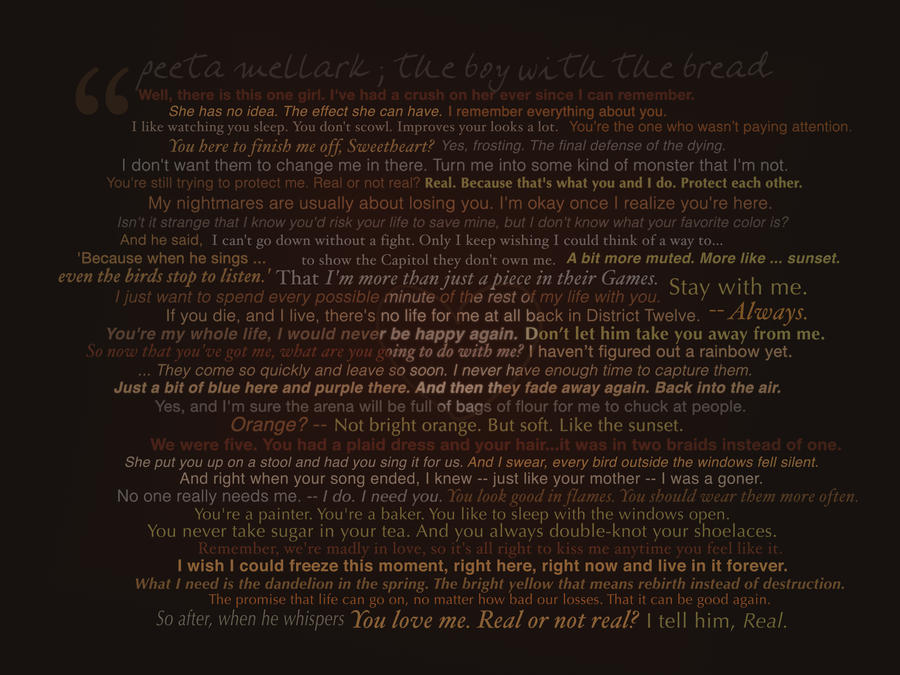 THG - Peeta Quotes Wallpaper by starcatcher42