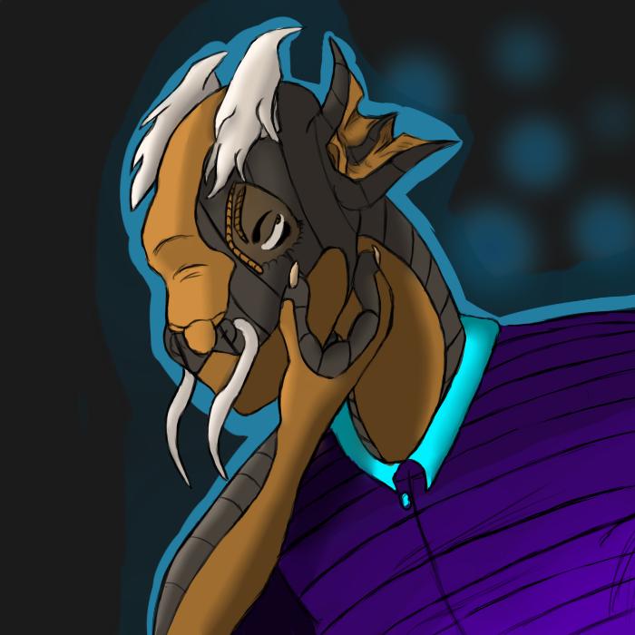 kibo thinking avatar (full resolution) by dragonwithgames