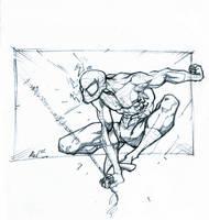 spiderman swings by Alex0wens