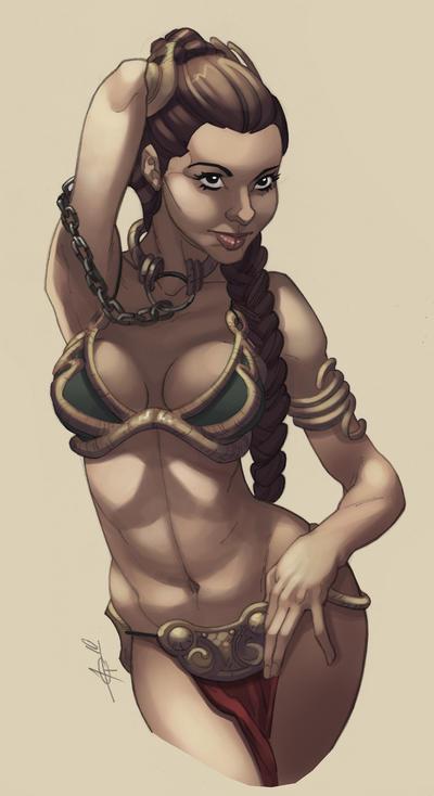 Slave Leia sketch by Alex0wens