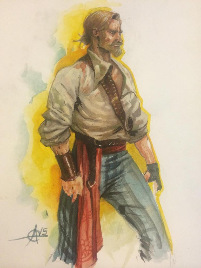 Watercolor sketch  by Alex0wens