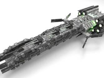 Hurricane class battleship by Xvampir3