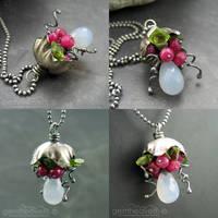 Bellflowerwith gemstones by gemheaven