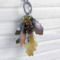 Falling leaves with gemstones