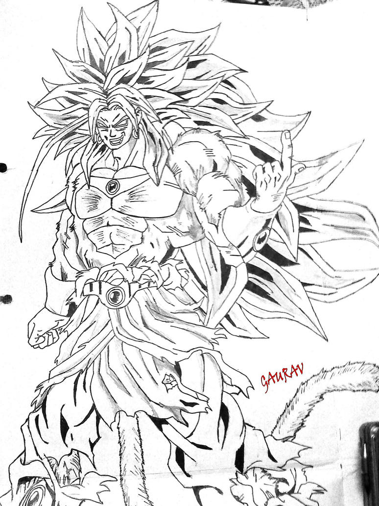 broly coloring pages - photo#21