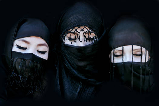 Three black princesses