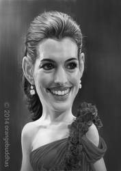 Anne Hathaway by orangebuddhas