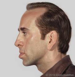 Nicolas Cage by orangebuddhas