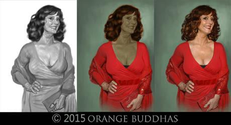 Susan Saradon Process by orangebuddhas