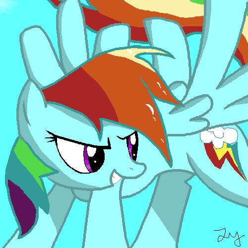 MLP Rainbowdash by xVoomertx
