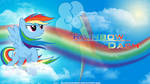 Rainbow Dash: Above the Clouds Wallpaper
