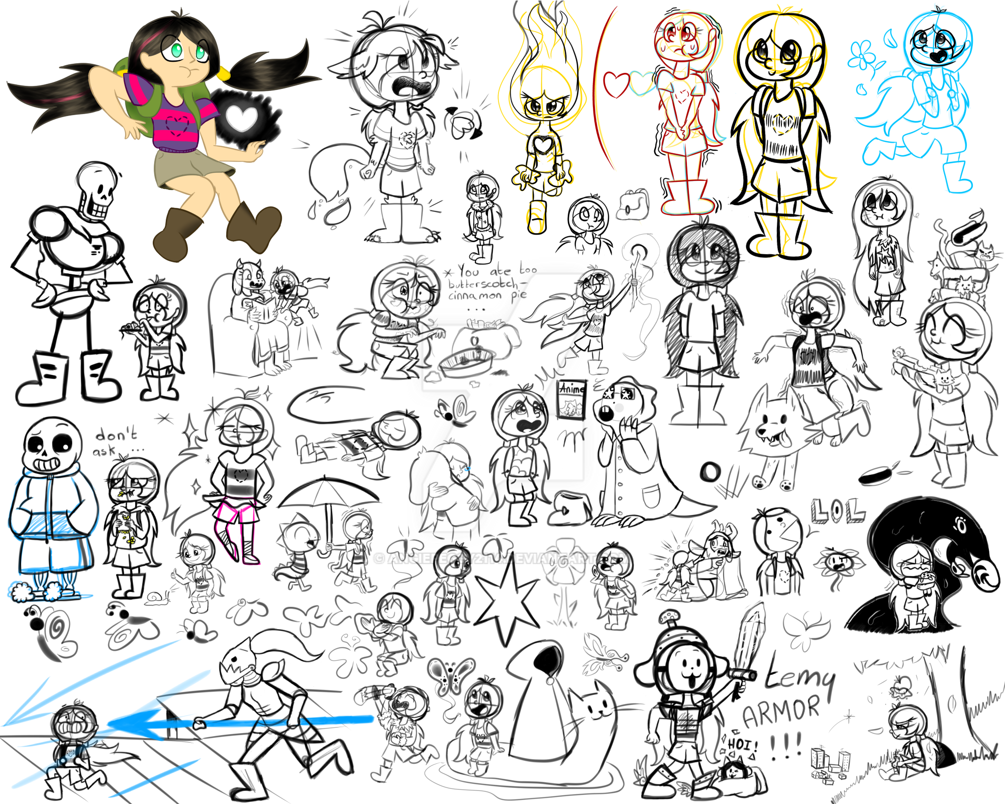 Doodles Undertale AU By AngiePeggy2114 On DeviantArt