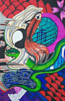 Yakuza tattoo: The Vibrant River