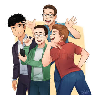 Draw the Squad: the Try Guys