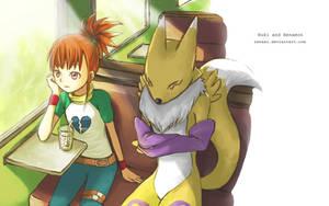 Ruki and Renamon by RenaAi