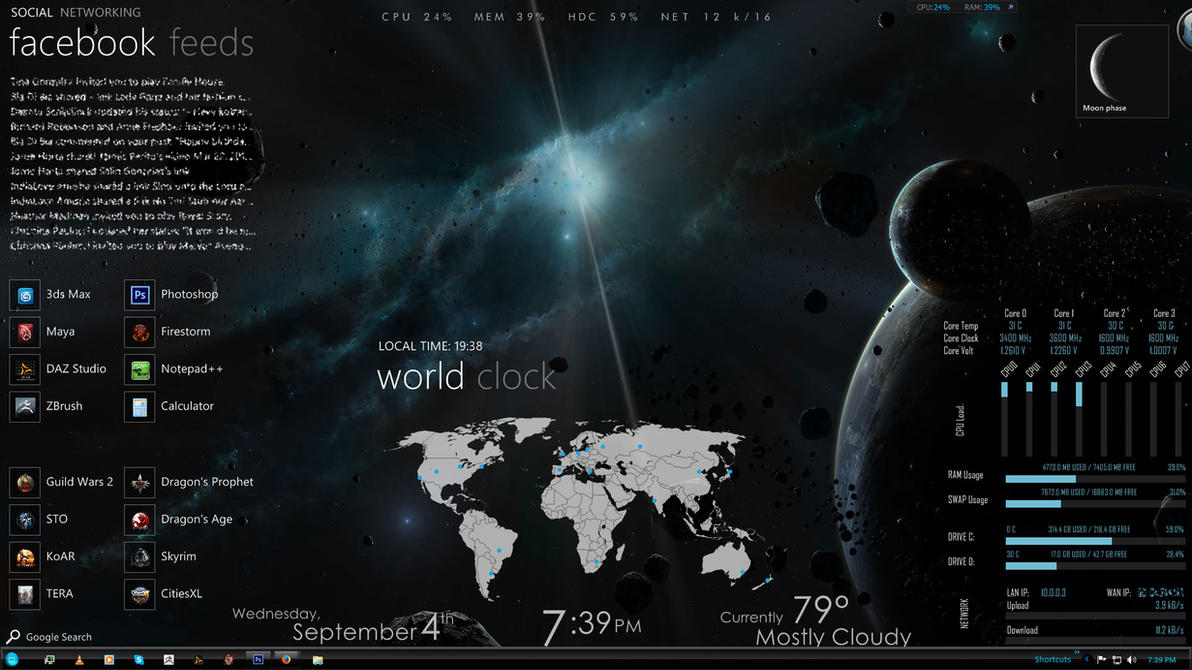 Desktop 2013 September by Wolfhawk