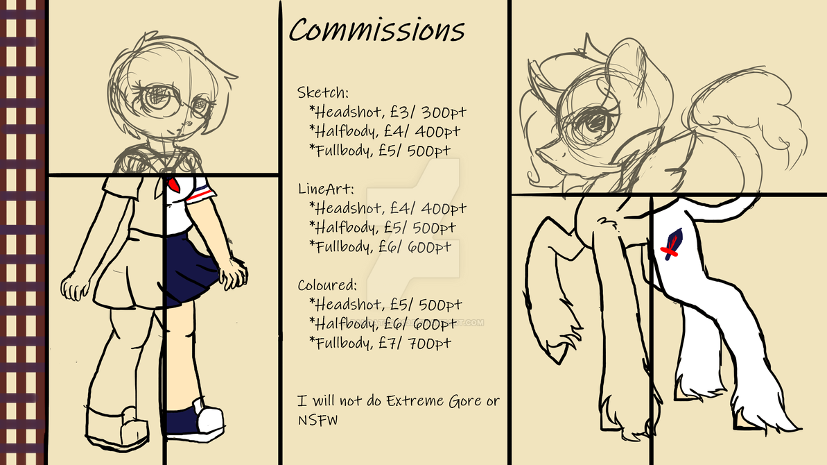 Commission Sheet by pandatron03