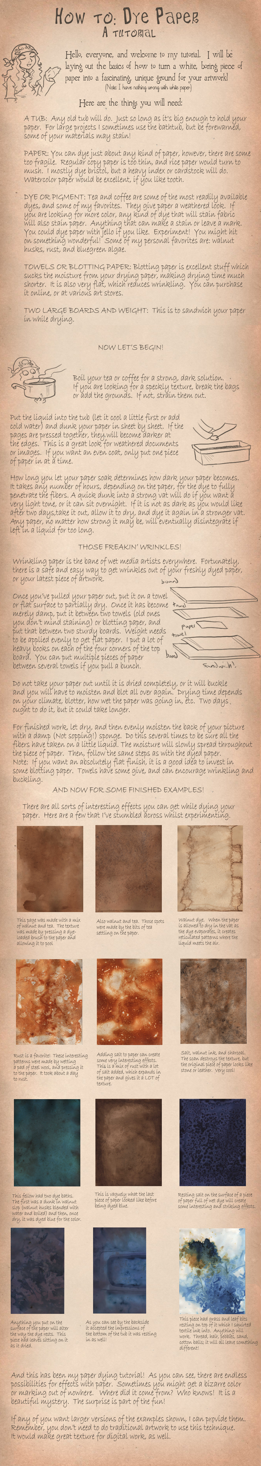 How to Dye Paper by hibbary