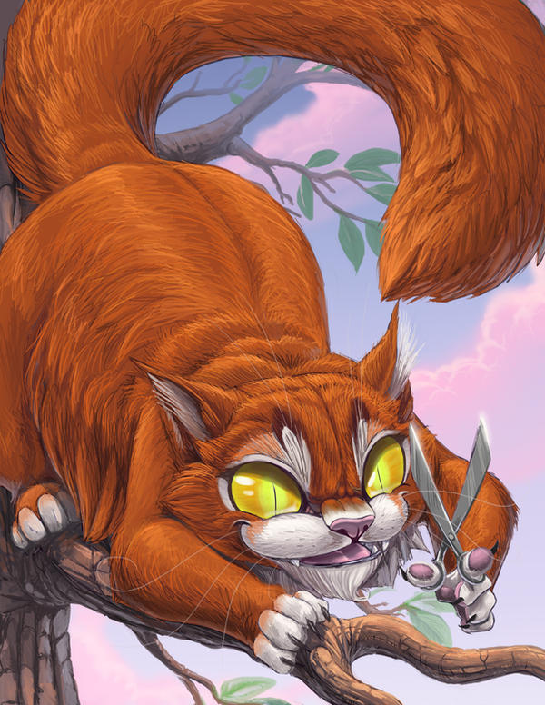 The Scissor Cat by hibbary