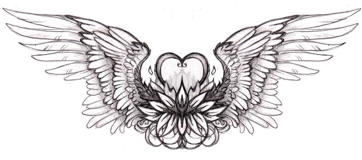 heart tattoo by hibbary on deviantart rh hibbary deviantart com heart wing tattoos pictures small heart and angel wing tattoos