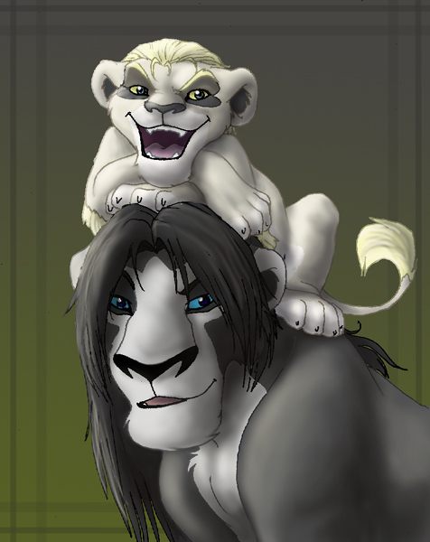 snape and draco lions