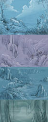 5 backgrounds by hibbary
