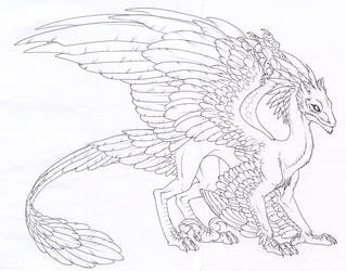 Feathered dragon by hibbary