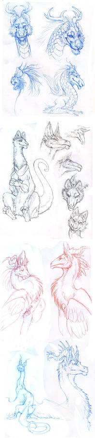 4 pages of strange dragons