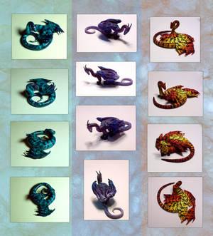 Three new dragon figurines