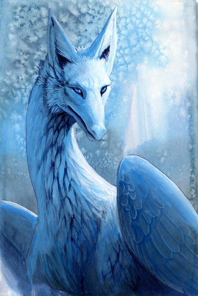 Snow Dragon by hibbary