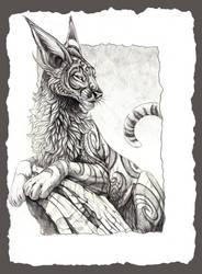Fantasy Feline by hibbary