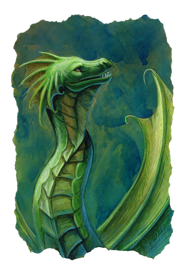 green sea dragon by hibbary