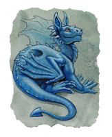 baby blue dragon by hibbary