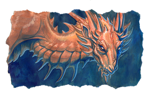 copper dragon by hibbary
