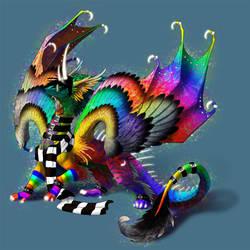 sparkle dragon by hibbary