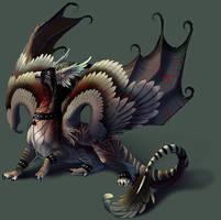 Gloom Dragon by hibbary
