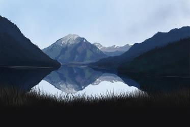 Mountain Lake by hibbary