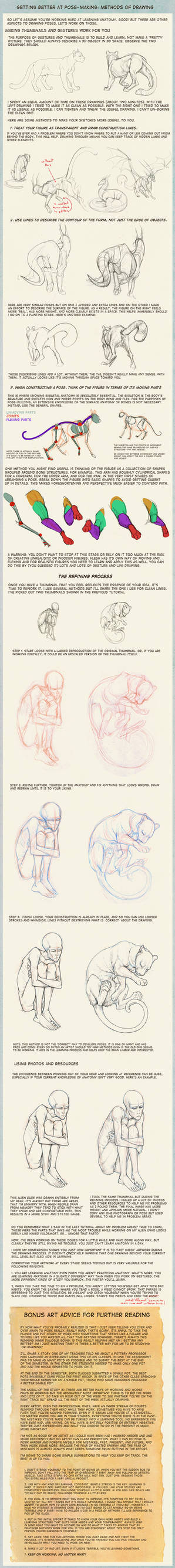 Poses: methods of drawing