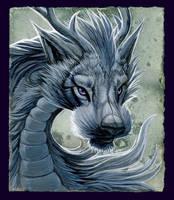 Grey Dragon by hibbary