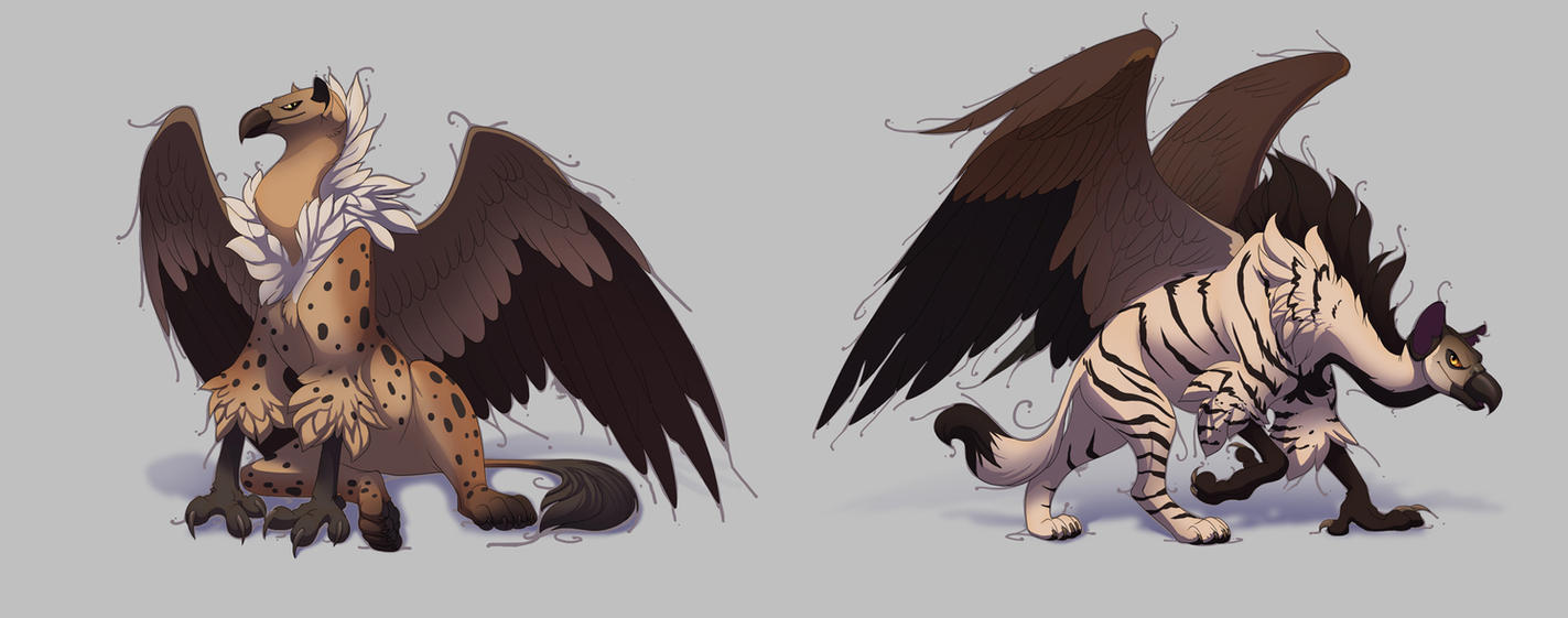 Hyena griffins by hibbary