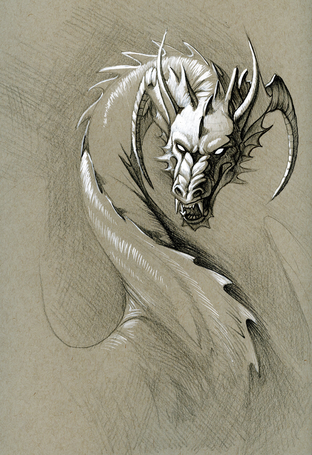 Greyscale Dragon By Hibbary On DeviantArt