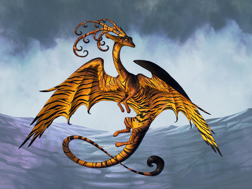 Golden Tiger Dragon by hibbary